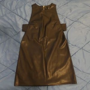 Forever 21 faux leather dress Size M